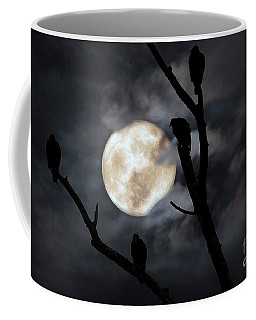 Coffee Mug featuring the photograph Full Moon Committee by Darren Fisher