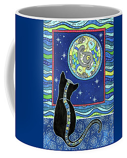 Pisces Cat Zodiac - Full Moon Coffee Mug