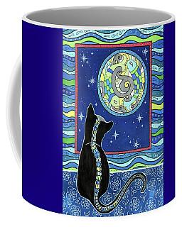 Pisces Cat Zodiac - Full Moon Coffee Mug