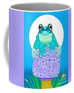 Coffee Mug featuring the digital art Full Moon Froggy  by Nick Gustafson