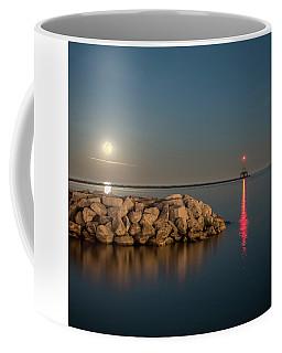 Full Moon In Port Square Coffee Mug