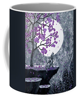 Coffee Mug featuring the painting Full Moon Magic by Teresa Wing