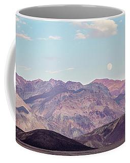 Full Moon Over Artists Palette Coffee Mug