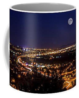 Full Moon Over Great Falls Coffee Mug