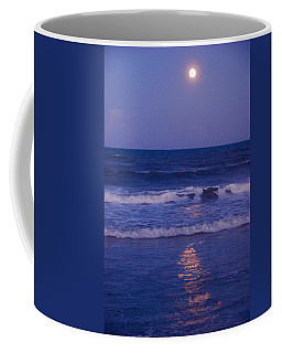 Full Moon Over The Ocean Coffee Mug