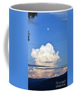 Coffee Mug featuring the photograph Full Moon Rising Over Blue Ridge by Gary Smith