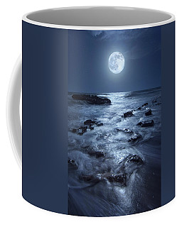 Full Moon Rising Over Coral Cove Beach In Jupiter, Florida Coffee Mug