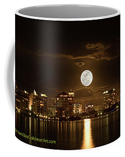 Full Moon Rising Over Sarasota Coffee Mug