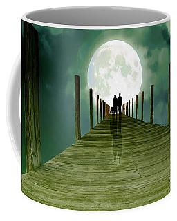 Full Moon Silhouette Coffee Mug by Mim White