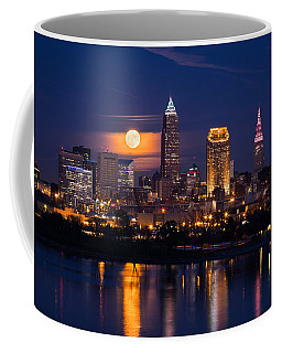 Full Moonrise Over Cleveland Coffee Mug