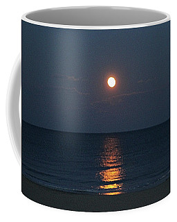 Full Moon's Glow On The Atlantic Coffee Mug