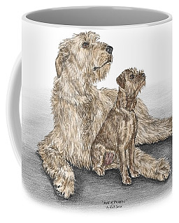 Full Of Promise - Irish Wolfhound Dog Print Color Tinted Coffee Mug