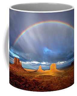 Full Rainbow Over The Mittens Coffee Mug