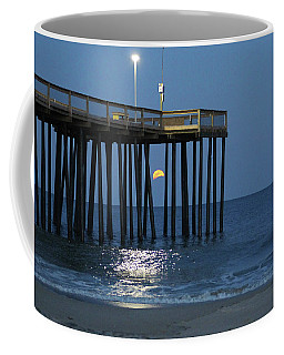 Full Worm Moon Thru The Pier Coffee Mug