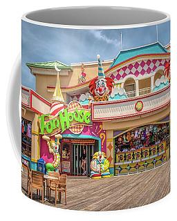 Coffee Mug featuring the photograph Fun House On The Point Pleasant Boardwalk by Kristia Adams