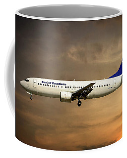 Funjet Vacations Boeing 737-4yo Coffee Mug