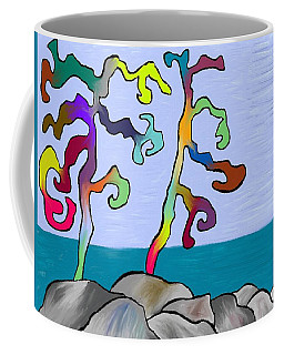Funky Beach Trees Coffee Mug by Paula Brown