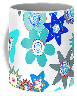 Funky Flower Pattern Coffee Mug by Methune Hively