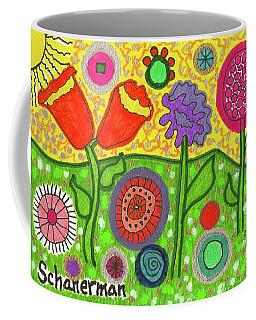 Funky Flowers All In A Row Coffee Mug