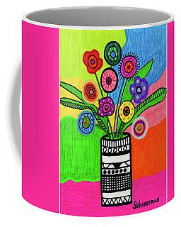 Funky Folk Flowers Coffee Mug