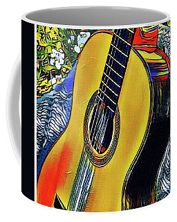 Coffee Mug featuring the photograph Funky Guitar by The Art of Alice Terrill