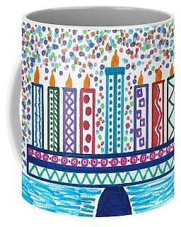 Funky Menorah  Coffee Mug