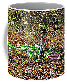 Coffee Mug featuring the photograph Funky Monkey - Reptile Rider by Al Powell Photography USA