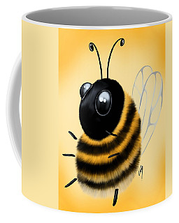 Coffee Mug featuring the painting Funny Bee by Veronica Minozzi