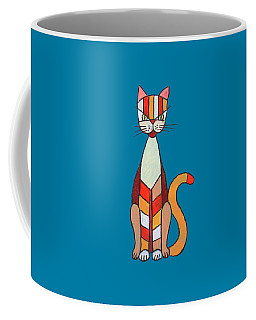 Coffee Mug featuring the painting Funny Cat by Jutta Maria Pusl