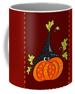 Coffee Mug featuring the painting Funny Halloween by Veronica Minozzi