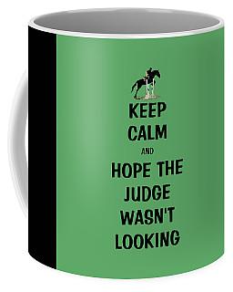 Funny Keep Calm Horse Coffee Mug by Patricia Barmatz