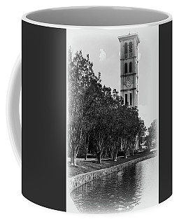 Furman University Bell Tower Greenville South Carolina Black And White Coffee Mug