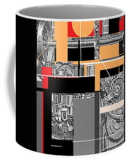 Coffee Mug featuring the mixed media Furnace 2 by Andrew Drozdowicz