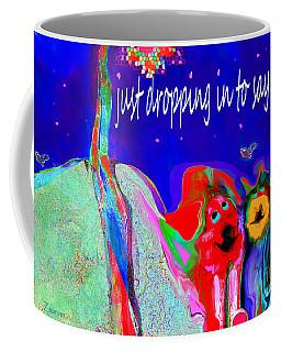 Furry Pals And A Bright Hello Coffee Mug