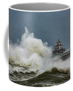 Coffee Mug featuring the photograph Fury On The Lake by Everet Regal