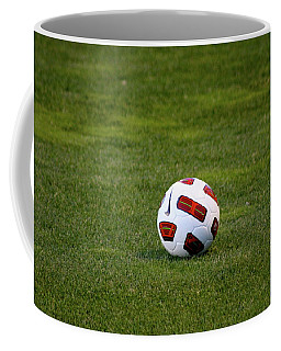 Coffee Mug featuring the photograph Futbol by Laddie Halupa