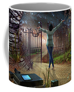 Coffee Mug featuring the digital art Future Road by Shadowlea Is