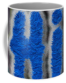 Fuzzy Blue Hi Coffee Mug by Genevieve Esson