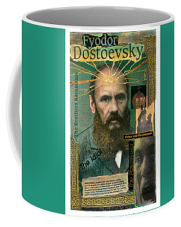 Coffee Mug featuring the mixed media Fyodor Dostoevsky by John Dyess
