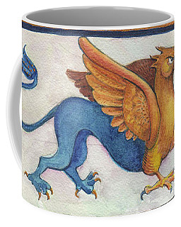 Coffee Mug featuring the digital art G Is For Gryphon by Lora Serra
