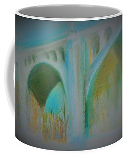 G W Bridge In Blue Coffee Mug