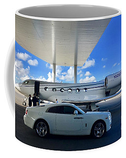 Coffee Mug featuring the digital art G500 With Rolls Royce by James Weatherly