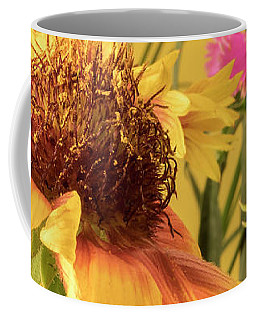 Coffee Mug featuring the photograph Gaillardia And Dianthus by Richard Rizzo
