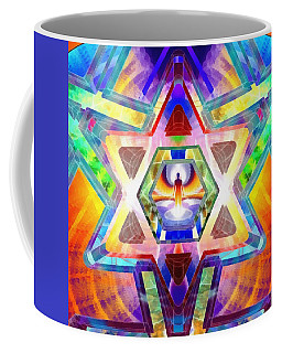 Coffee Mug featuring the digital art Galactic Salon by Derek Gedney