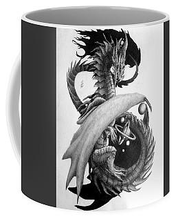 Galaxy Dragon Graphite Drawing Coffee Mug