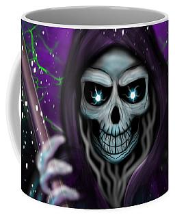 Galaxy Grim Reaper Fantasy Art Coffee Mug