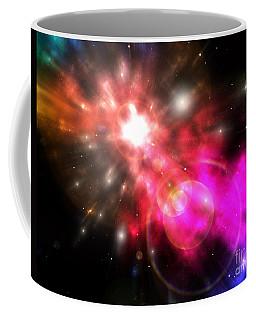 Coffee Mug featuring the digital art Galaxy Of Light by Phil Perkins