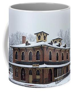 Galena Depot Snowfall Coffee Mug