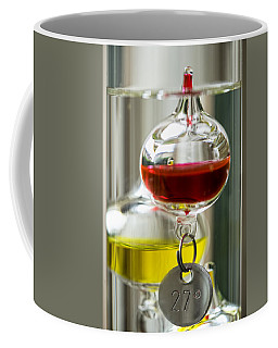 Coffee Mug featuring the photograph Galileo Thermometer by Jeremy Lavender Photography