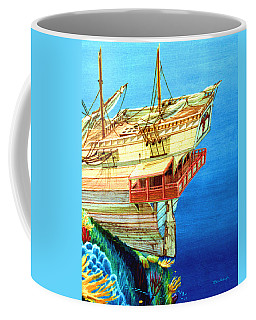 Galleon On The Reef 2 Filtered Coffee Mug